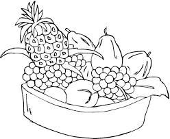 Small Picture Fruits coloring page