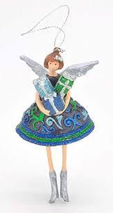 Ecosoul Engel Geschenk Weihnachten Baumschmuck Figur Deko Hänger Christbaumschmuck 12 Cm Blau Grün