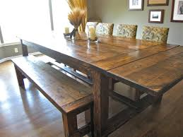 chairs lovely barn wooden rectangle farmhouse dining room table with dining room table with bench and
