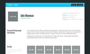 Resume Html Template Delectable Personal Portfolio Template Free Download Puntogovco