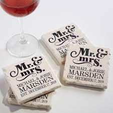 Wedding Coasters Personalized Stone Coaster Set Mr Mrs Wedding Coasters