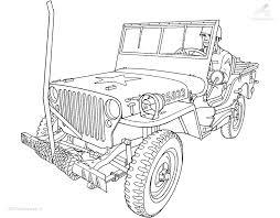 1001 Kleurplaten Voertuigen Auto Kleurplaat Jeep