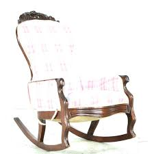 furniture platform rocking chair antique upholstered cushioned chairs post history