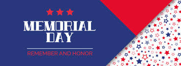 memorial day remember and honor vector banner