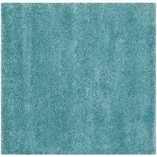 safavieh milan aqua blue 7 ft x 7 ft square area