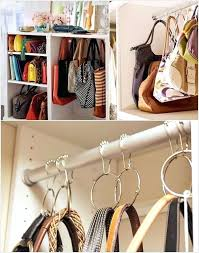 bag organizer for closet purse storage rack diy
