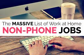 List Of 100 Non Phone Work From Home Jobs Legit Researched