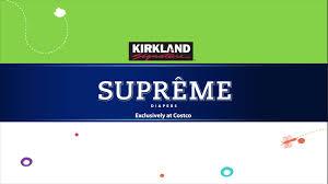 Kirkland Signature Supreme Diapers Sizes 1 6