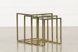 Nesting Tables Calins 3 Piece Nesting Tables Living Spaces