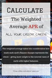 Credit Card Interest Calculator Credit Card Interest Rate Calculator Calculate Weighted Average