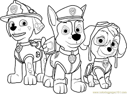 Small Picture Paw Patrol Coloring Page Free PAW Patrol Coloring Pages
