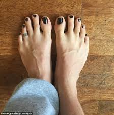 fresh paint the bachelor host took to instagram to show off his freshly painted toenails