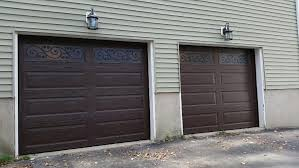 brown garage doors with windows. Two Door Garage With Brown Doors, Windows, And Light Features Doors Windows O