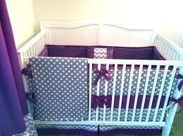 grey crib bedding set purple and grey nursery image of ideas purple crib bedding sets purple
