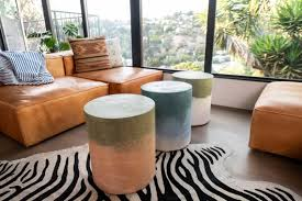 colorful chromatic concrete side tables