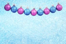Light Pink And Blue Christmas Decorations Christmas Blue And Pink Shiny Baubles Garland With Sparks On