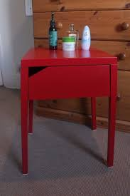 red bedside table. Wonderful Red IKEA Selje Red Bedside Table For Red Bedside Table I