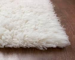 white wool shag rug. Plain Rug Flokati Area Rug 5ft X 7ft White 100 Wool Shag Rug Inside White Etsy