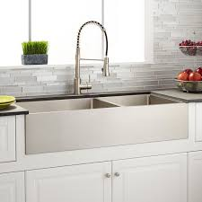 39 optimum 60 40 offset double bowl stainless steel farmhouse sink