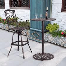 Modern Bar Table Design Us 122 99 Giantex Cast Aluminum Round Bar Table Bar Height Outdoor Patio Pub Bistro Furniture New Modern Bar Furniture Op3360 On Aliexpress