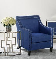 navy and white accent chair pertaining to blue on home interior collections with inspirations 7