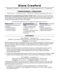 Caregiver Resume Samples Elderly Updated Caregiver Resume Sample