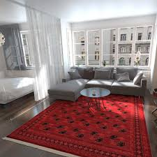 Red Living Room Rug World Menagerie Kowloon Red Area Rug Wayfair