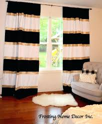 grey and gold shower curtain color curtains custom black white striped blocked nursery blue