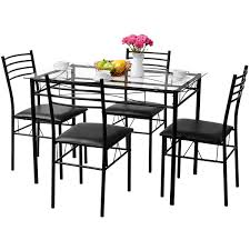 Amazoncom Tangkula Dining Table Set 5 Pieces Home Kitchen Dining
