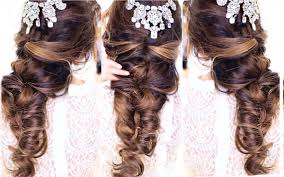 half up half down hairstyles wedding. easy crisscross half updo hairstyle 👸☆ wedding homecoming hairstyles | makeupwearables - youtube up down