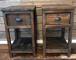 rustic end tables. Rustic End Tables - Set Of Two C