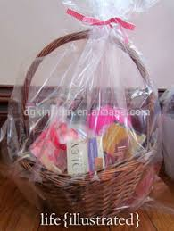 clear plastic cellophane basket gift wrap bag gift baskets