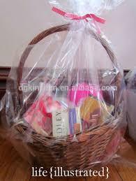 clear plastic cellophane basket gift wrap bag gift baskets