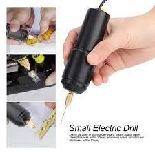 Ready Stock] Máy khoan điện mini cầm tay với 3 đầu mũi khoan - Máy khoan