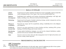 Skills Section Resume Fine Pictures Summary Studiootb
