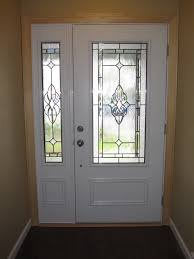 fiberglass entry door with one side panel