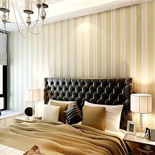 Free Shipping Bedroom Wallpaper Stripe Wallpaper yellow white gold Color  Christmas Home decorates Wall Paper Roll-in Wallpapers from Home  Improvement on ...