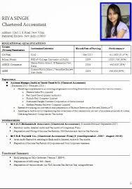 Cv Resume Format Sample Resume Template Ideas