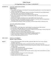 Download Analyst, Demand Planning Resume Sample as Image file