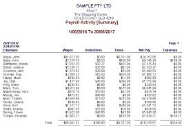 payroll sample payroll activity summary sample business for sale qld
