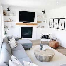 Inrichting Kleine Woonkamer Appartement Met Open Haard Hangende Tv