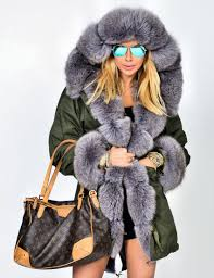 american parka with fur top trendy american army parka with fox fur coat