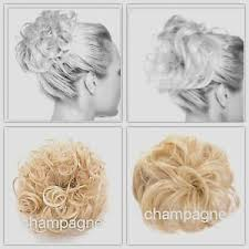 Details About Koko Hair Scrunchie Wrap Champagne Blonde Large Messy Bun Updo Wavy Curly Piece