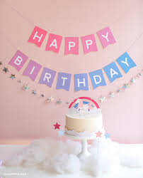 Birthday Banner Printable Download And Assemble An Ombre Printable Birthday Banner