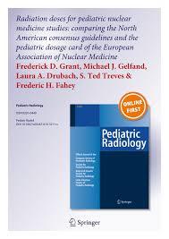 Pdf Radiation Doses For Pediatric Nuclear Medicine Studies