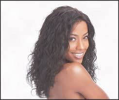 wet and wavy hairstyles for black women png
