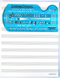 Music Staff Paper Template Interesting Amazon Song Writer's Composing Template Stencil For Music Notes