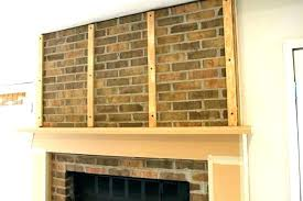 brick fireplace surround s ides red brick fireplace mantel ideas