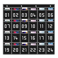 Office School Supplies 30 Pockets Numbered Classroom
