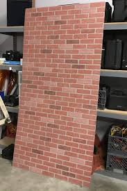 diy studio build a faux brick